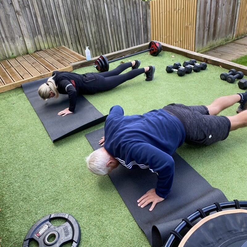 livfit zoe livingstone personal training customers press ups
