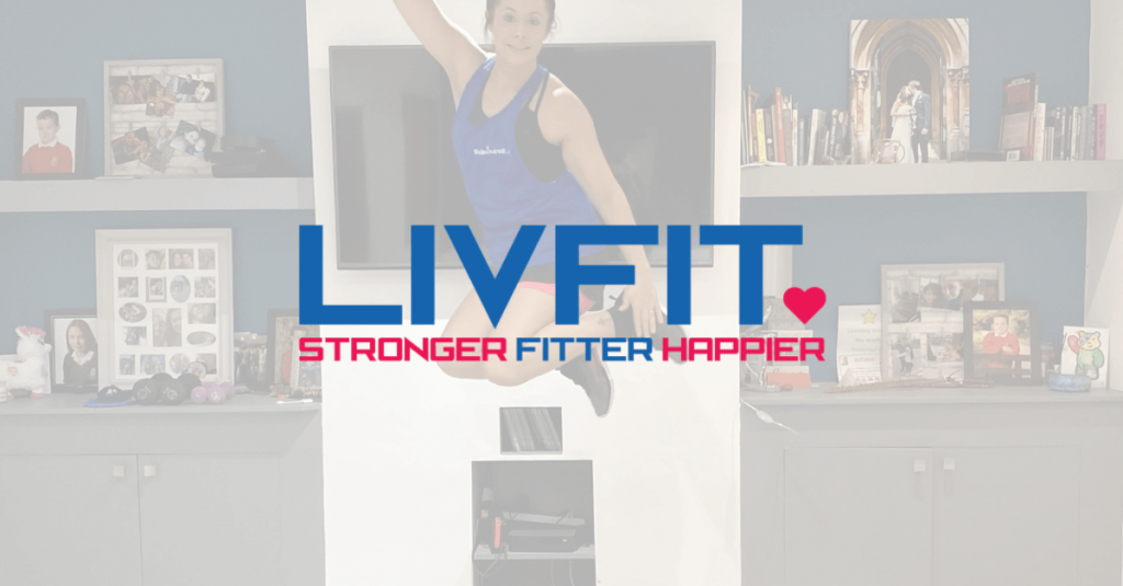 livfit cover photo with zoe in the air jumping off a rebounder